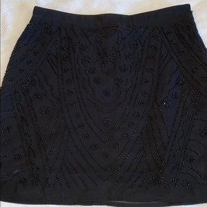 Black sequins skirt